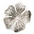 Large Ethnic Textured 'Flower' Ring In Burn Silver Metal - 40mm Diameter - Adjustable - Size 7/8 - view 7