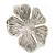 Large Ethnic Textured 'Flower' Ring In Burn Silver Metal - 40mm Diameter - Adjustable - Size 7/8 - view 8