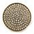 Statement Round Pave Set Swarovski Crystal Elements 'Discus' Stretch Ring - Adjustable 7/8 - 50mm Wide - view 4