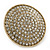 Statement Round Pave Set Swarovski Crystal Elements 'Discus' Stretch Ring - Adjustable 7/8 - 50mm Wide