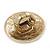 Statement Round Pave Set Swarovski Crystal Elements 'Discus' Stretch Ring - Adjustable 7/8 - 50mm Wide - view 5