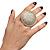 Statement Round Pave Set Swarovski Crystal Elements 'Discus' Stretch Ring - Adjustable 7/8 - 50mm Wide - view 7