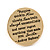 Gold Tone Audrey Hepburn Quote Round Medallion Statement Ring - Size 8, 30mm across - view 5