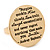 Gold Tone Audrey Hepburn Quote Round Medallion Statement Ring - Size 8, 30mm across - view 7