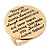 Gold Tone Audrey Hepburn Quote Round Medallion Statement Ring - Size 8, 30mm across