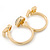 Gold Plated Double Finger Diamante 'Love & Heart' Ring - Size 7&8 - view 6