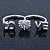 Rhodium Plated Double Finger Diamante 'Love & Heart' Ring - Size 7&8 - view 9