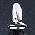 Rhodium Plated Nail Ring
