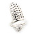Rhodium Plated Textured Snake Nail Ring - view 3