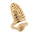 Gold Plated Textured Snake Nail Ring - view 7