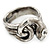 Vintage Inspired Coiled Snake Ring In Silver Tone - Size 7 - view 6