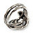 Vintage Inspired Coiled Snake Ring In Silver Tone - Size 7 - view 5