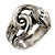 Vintage Inspired Coiled Snake Ring In Silver Tone - Size 7