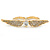 Gold Plated CZ Heart, Clear Crystal Two Finger Wings Ring - Size 7&6 - view 5