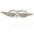 Rhodium Plated CZ Heart, Clear Crystal Two Finger Wings Ring - Size 7&6 - view 5