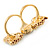 Brown Enamel, Crystal Two Head Jaguar Double Finger Ring In Gold Plated Metal - (Size 7/8) - 45mm Width - view 5
