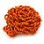 Orange Glass Bead Flower Stretch Ring - 40mm Diameter - view 5