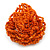 Orange Glass Bead Flower Stretch Ring - 40mm Diameter - view 6