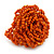 Orange Glass Bead Flower Stretch Ring - 40mm Diameter - view 7