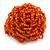 Orange Glass Bead Flower Stretch Ring - 40mm Diameter - view 8