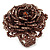Plum Coloured Glass Bead Flower Stretch Ring - 40mm Diameter