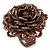 Plum Coloured Glass Bead Flower Stretch Ring - 40mm Diameter