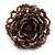 Plum Coloured Glass Bead Flower Stretch Ring - 40mm Diameter - view 5