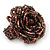 Plum Coloured Glass Bead Flower Stretch Ring - 40mm Diameter - view 4