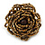 Bronze Coloured Glass Bead Flower Stretch Ring - 40mm Diameter - view 4
