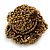 Bronze Coloured Glass Bead Flower Stretch Ring - 40mm Diameter - view 3