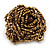 Bronze Coloured Glass Bead Flower Stretch Ring - 40mm Diameter - view 6