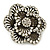 Large Layered Crystal 'Flower' Ring In Burnt Gold Finish - Adjustable - 60mm - view 6