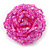 Pink Glass Bead Flower Stretch Ring - view 3