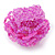 Pink Glass Bead Flower Stretch Ring - view 4