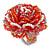 White/ Orange/ Red/ Lavender Glass Bead Flower Stretch Ring