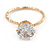 Delicate Clear Round-Cut Crystal Solitaire Ring In Gold Plating - Size 7 - view 5