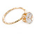 Delicate Clear Round-Cut Crystal Solitaire Ring In Gold Plating - Size 7 - view 4
