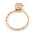 Delicate Clear Round-Cut Crystal Solitaire Ring In Gold Plating - Size 7 - view 3