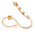Delicate Gold Plated Crystal Floral Double Finger Adjustable Ring - view 4