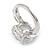 15mm Large Clear Cz Solitair Ring In Rhodium Plated Alloy - size 8 - view 3