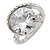 15mm Large Clear Cz Solitair Ring In Rhodium Plated Alloy - size 8 - view 5