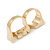 Gold Plated Double Finger Diamante 'Love' Ring - Size 7&8 - 45mm W - view 3