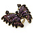 Large Crystal, Acrylic Bead Butterfly Ring In Antique Gold Tone Metal (Purple) - 55mm - Size 8 - view 6