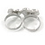 Silver Plated Double Finger Diamante Two Hearts Ring - Size 7&8 - Adjustable - view 6