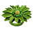 Lime Green Leather Daisy Flower Ring - 40mm D - Adjustable - view 6