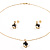 Gold-Tone Cubic Zirconia Heart Cosutme Jewellery Set - view 2