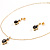 Gold-Tone Cubic Zirconia Heart Cosutme Jewellery Set - view 3