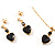 Gold-Tone Cubic Zirconia Heart Cosutme Jewellery Set - view 4