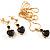 Gold-Tone Cubic Zirconia Heart Cosutme Jewellery Set