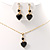 Gold-Tone Cubic Zirconia Heart Cosutme Jewellery Set - view 5